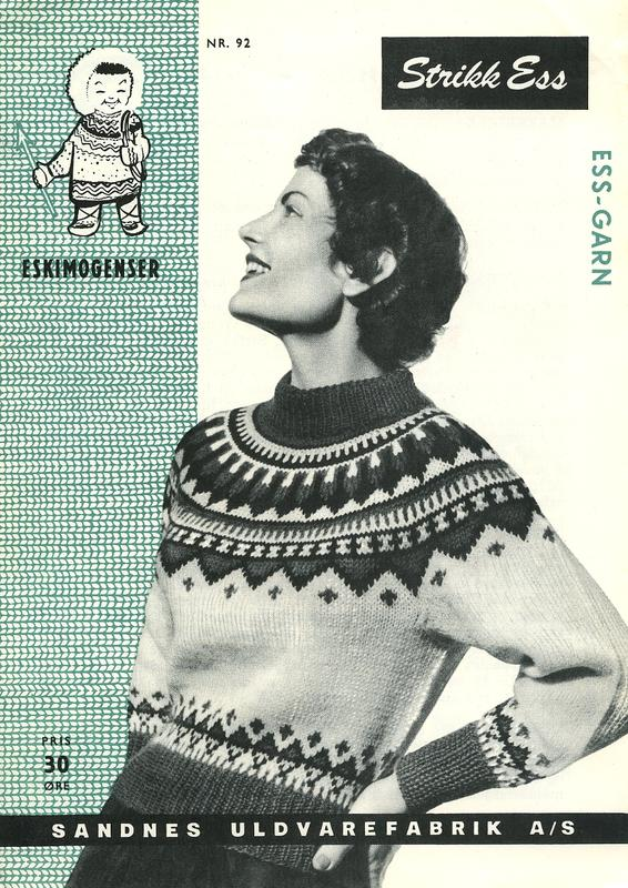 1. Advertisement for Winter/Christmas jumper, c.1960s.