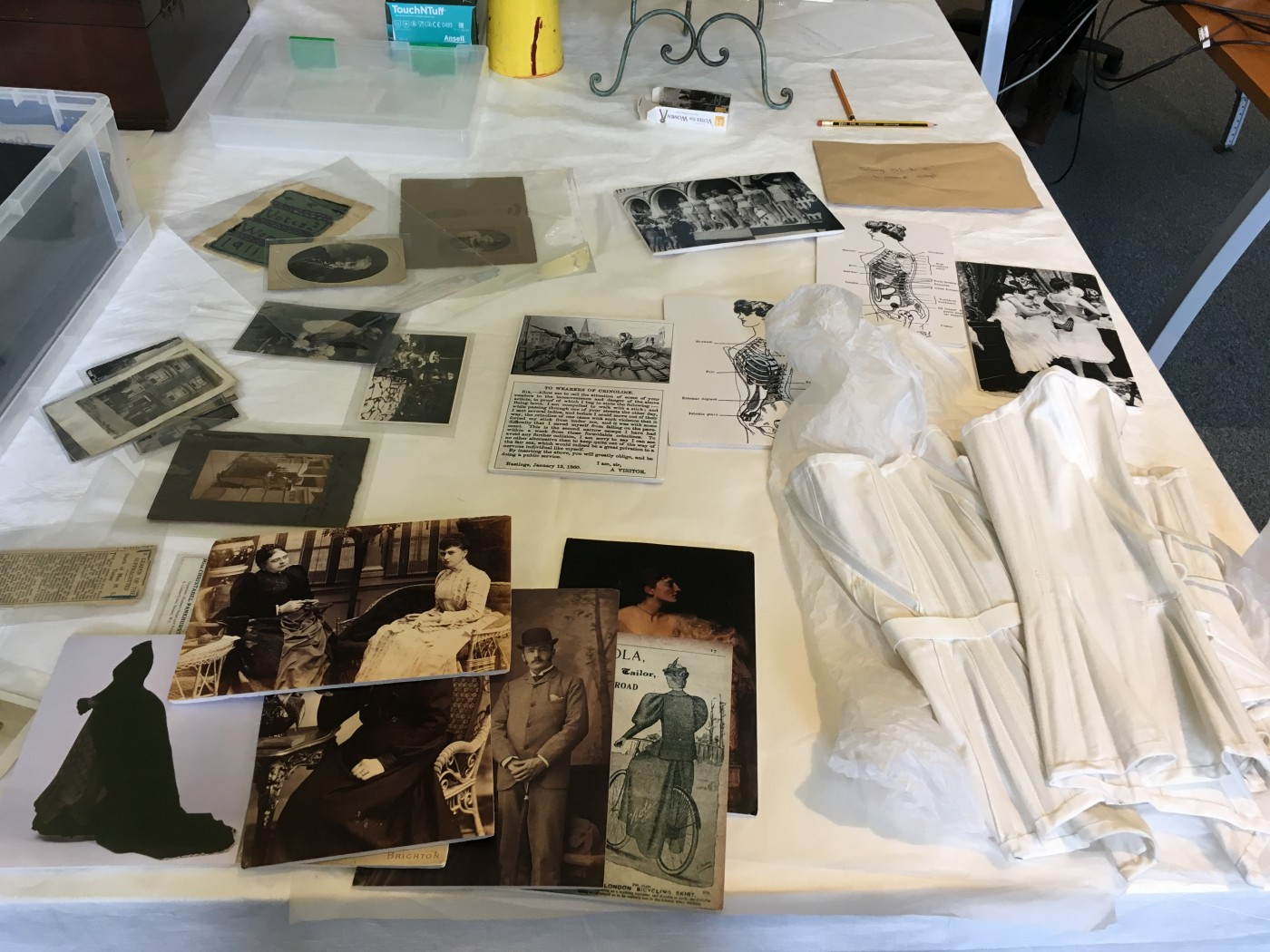Photographs and a reproduced Corset from Brighton Museum & Art Gallery collections, taken by Author, 7th February 2018.
