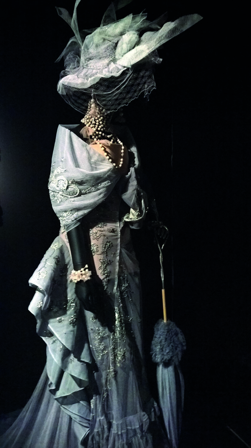 'Madeleine' by John Galliano Haute Couture Fall-Winter 2005    Long evening gown in tulle embroidered with Swarovski crystals; trompe l'oeil bo