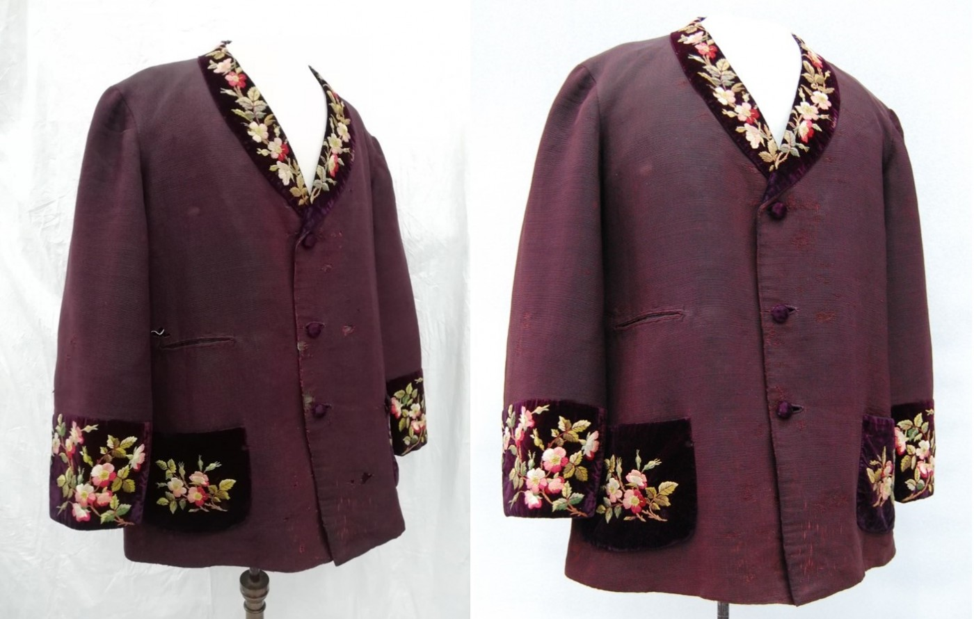 Manchester jacket before and after conservation © Zenzie Tinker Conservation