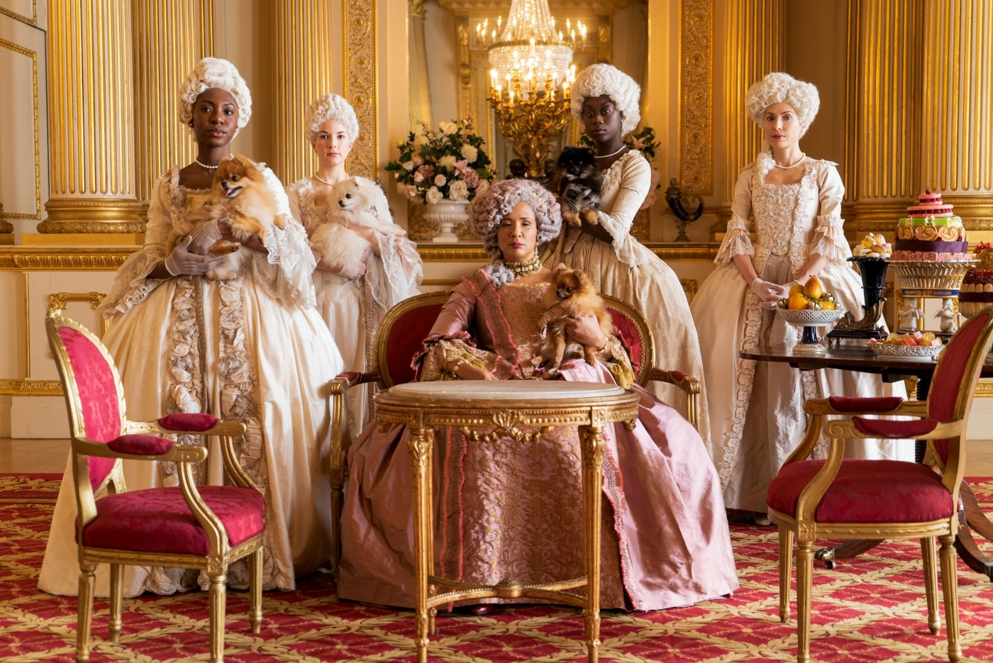 Queen Charlotte and her ladies in waiting.Credit: Netflix 2020.