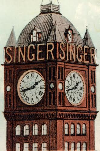 The iconic Singer clock tower    ©West Dunbartonshire Council Libraries and Cultural Services
