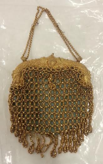Early nineteenth century beadwork bag of silver gilt     Credit: Jade Halbert, courtesy Glasgow Museums