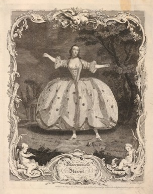 Engraving of ballet attire, second half of eighteenth century.    © Victoria and Albert Museum, London,    E.4963-1968.    http://collections.vam.ac.
