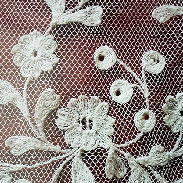 Figure 2:Limerick lace, London Embroidery School. Image source https://www.londonembroideryschool.com/tag/limerick-tambour-lace/