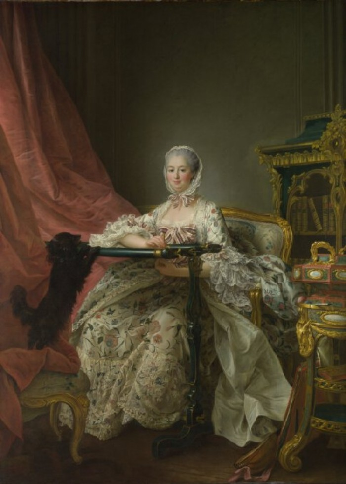 Figure 1:Madam de Pompadour at her Tambour Frame, by Francois-Hubert Drouais, 1763/4. National Gallery, London, NG6440.