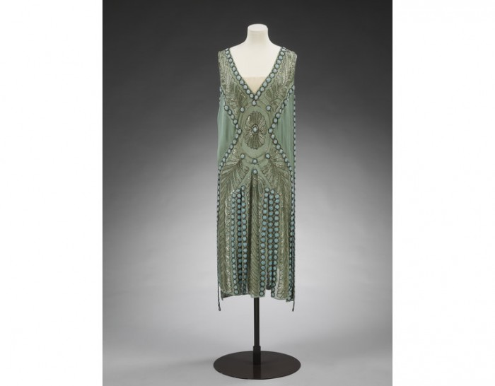 Figure 3: Jeanne Lanvin silk and chiffon embroidered evening dress, 1925.Victoria & Albert Museum.T.151&A-1967.